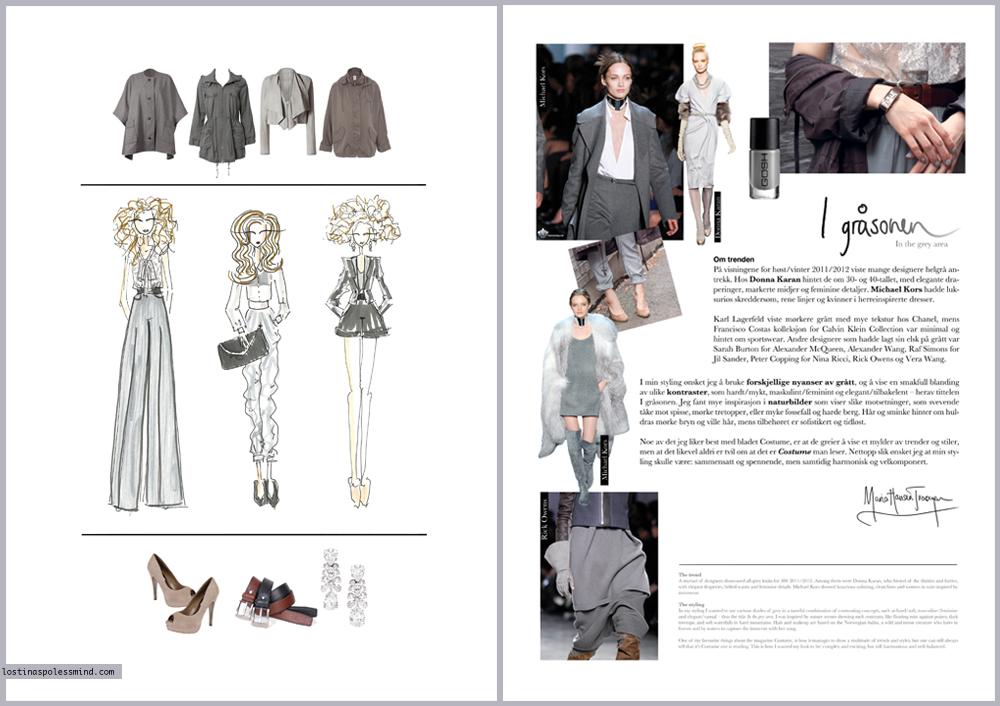 Fashion magazine spread layout