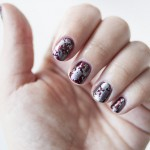 Failed stamping manicure: the snakeskin pattern