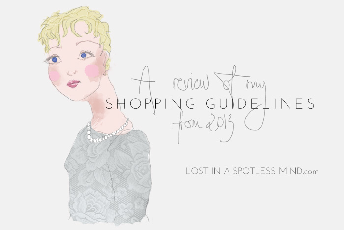 A review of my shopping guidelines for 2013 | lostinaspotlessmind.com