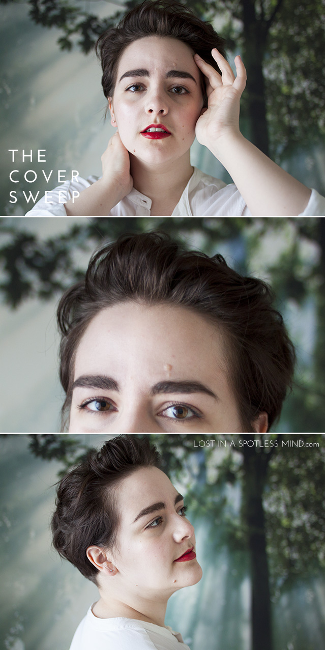 Five ways to style a pixie cut: the cover sweep | from lostinaspotlessmind.com