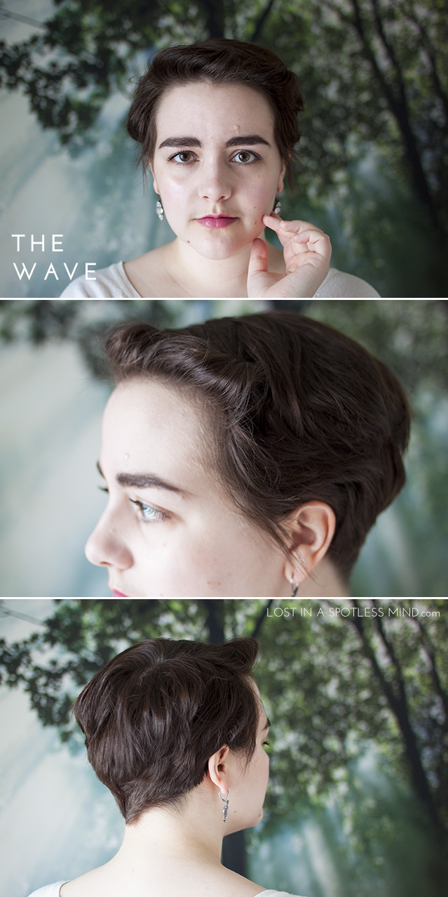 Five ways to style a pixie cut: the wave | from lostinaspotlessmind.com