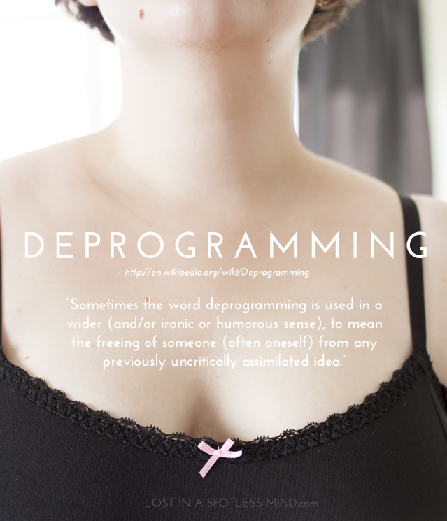 Body image deprogramming | from lostinaspotlessmind.com