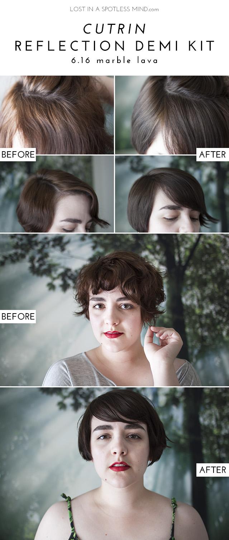 Demi-permanent hair colour: Cutrin Reflection Demi Kit 6.16 | from lostinaspotlessmind.com